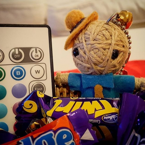 After a hard day's work #chocolate and #remote