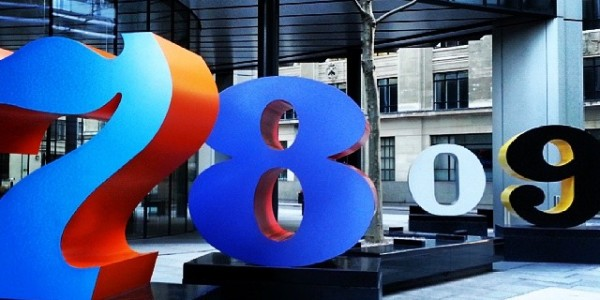 #numeri sparsi per la #city #londra #london #londonlife #numbers #financialcentre