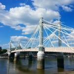 #albert #bridge #thames #pink #london