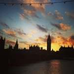 #bigben #clock #tower #london #parliament #sunset #uk #sunday