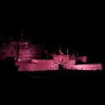#holidays in #edinburgh #scotland #castle #pink #night
