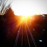 I see the #light - #railway #train #station