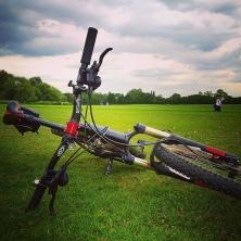 #teddington #teddingtonlock #mountainbiking #cycling #london #cube #cubeltdrace #hardtail #rockshox